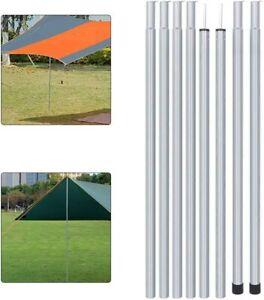 4X Adjustable Portable Telescopic Steel Tent Poles Awning Camping Tarp Pole UK