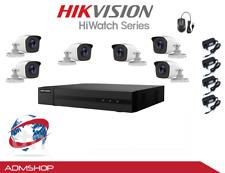KIT TELECAMERE VIDEOSORVEGLIANZA DVR 8 CH+6 TELECAMERE HIKVISION DVR 2MPX