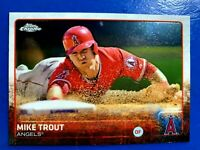 2015 Topps Chrome Mike Trout Angels Card #51