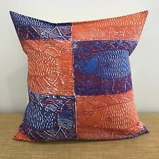 "18"" (45cm) Aboriginal Fabric BLUE,PURPLE, ORANGE Cushion Cover. Made Australia"