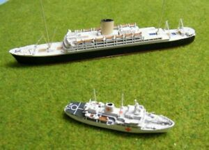 """Two Albatros Model Ships - """"RMS Andes"""" & The """"Hecla"""""""