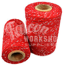 RED & SILVER SPARKLE CHRISTMAS BAKERS GIFT PRESENT WRAPPING STRING TWINE CORD