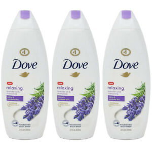 Pack of (3) New Dove Relaxing Body Wash, Lavender Oil and Chamomile, 22 Oz
