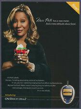 Patti LaBelle OneTouch Glucose Meter Vintage Magazine Print Ad 2006