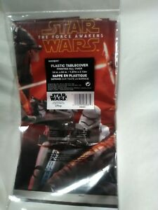 Star Wars Party Table Cloth Cover 54in X 84in Birthday Supply Extras