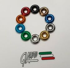 M6 ALUMINIUM ANODISED COUNTERSUNK WASHERS 9 COLOURS WITH/WITHOUT TITANIUM SCREWS