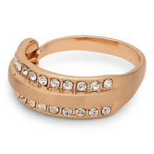 Pilgrim Jewellery Rose Gold Plated Crystals Adjustable Ring + Gift Bag
