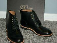 NWT J.CREW Kenton Leather Cap Toe Boots Sz 8M Black Men's Shoes $248 f4446
