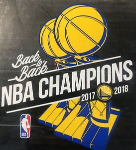 Golden State Warriors 2017 / 2018 Back-To-Back NBA Champions Auto Badge Decal 5""