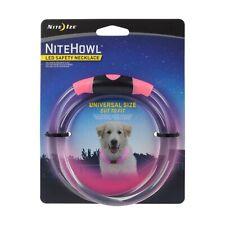 """Nite Ize NiteHowl LED Safety Necklace Pink Dog Collar 12""""-27"""" (2-Pack)"""