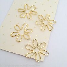 Paper Clips Gold Flower Planner Accessories Paperclip