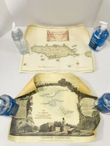 "Saint Thomas - Saint Martin Islands Map Prints - 2006 Decorative - 15""x20"""