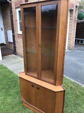 Mid Century Teak Turnidge Of London Corner Display Cabinet Unit  Retro  Vintage