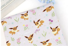 Pocket Monster, Pokemon, Eevee Eievui Character Fabric made in Korea by the Yard