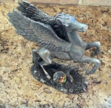 The Leonardo Collection Legends and Dreams Pewter Pegasus With Crystal Figure