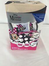 Disney Minnie Mouse 4 Piece Microfiber Full Sheet Set New