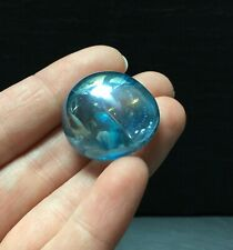 Aqua Aura Quartz Polished Crystal 15.6g 25mm Tumblestone Rainbow Peace Chakra 3