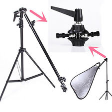 Extendable Reflector Arm Holder Mounting Bracket Swivel Head & Light Stand Kit