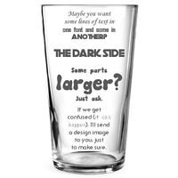 Personalised Engraved Beer Pint Glass Gift Stag Best Man Birthday Teacher