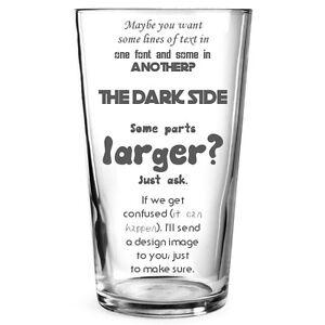 Personalised Engraved Beer Pint Glass Gift Stag Best Man Birthday Teacher