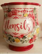 New listing The Pioneer Woman Pioneer New! Vintage Floral 6.75-Inch Utensil Holder Pretty!