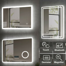 LED Bathroom Mirror Lights Touch Sensor Switch Illuminated Demister Pad Heated