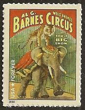 US 4901 Al. G. Barnes Circus Poster Monkey Elephant forever single MNH 2014