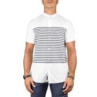 Armani Jeans Camicia Uomo Col Bianco tag varie   -42 % OCCASIONE  