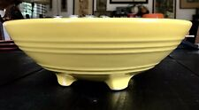 """Pacific Pottery Hostessware Footed Salad Bowl 315 Yellow 8.25"""" Vintage"""