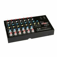 6 Channel Audio Mixer USB Mixing Console with Bluetooth for Karaoke Live Podcast