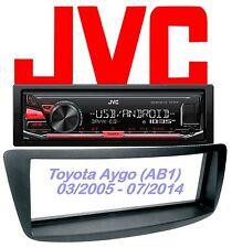 JVC Autoradio Set Toyota Aygo MP3 USB  - Android Steuerung - 4x50Watt  Aux In