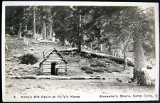 MOUNT BALDY CA~1900's Kelly's Old Cabin at Kelly's Camp ~ Camp Baldy ~ RPPC