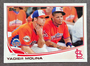 RARE! 2013 Topps Update Yadier Molina Image Variation w/ Posey SP SSP Cardinals!