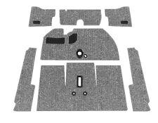 Premium VW Front Carpet Kit, Charcoal Loop, w/o Footrest, Beetle 1962-1964