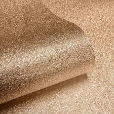 TEXTURED SPARKLE WALLPAPER - COPPER - MURIVA 701374 GLITTER BROWN
