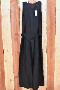 Banana republic black linen jumpsuit / playsuit size 14 New NWT
