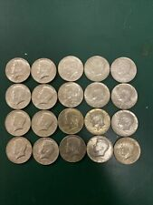 Lot of 20 UNC Kennedy Half Dollars 1965-1969 40% Silver Coins 50 Cent Pieces