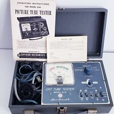 Vintage Superior Instruments Picture Tube Tester Model 83A With Manual