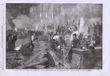 1862 SOUTH MIDDLESEX RIFLE VOLUNTEERS CORPS WORKING BY TORCHLIGHT FOR DRILL SHED
