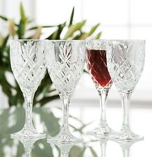 Galway Irish Crystal Renmore Wine Goblets. set of 4 Glasses. New Boxed RRP £40