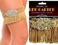Leg  GARTER 20s CABARET Showgirl Gatsby Flapper Fringe  Rhinestone GARTER