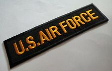 NAME TAG U.S. AIR FORCE ARMY MILITARY Embroidered Iron on Patch + Free Shipping