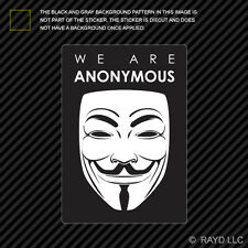We Are Anonymous Sticker Decal Self Adhesive Vinyl hacker group internet