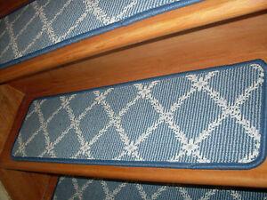 13  Step 9'' x 26''-28'' Tufted carpet Wool Stair Treads Premiun Choose Size.