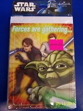 Star Wars Clone Wars Opposing Forces Kids Birthday Party Invitations w/Envelopes