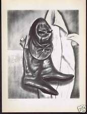"""Lee Townsend 1939 PRINT """"Jockey Clothes"""" - Boots & Hat"""