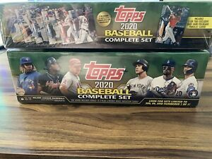 Lot 2 2020 Topps Factory Complete Set Factory Sealed Green Gold Star