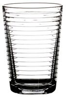 Pasabahce Rippled Glass Tumbler Set Stackable Juice Water Glasses Set of 8