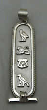 PUT YOUR NAME in hieroglyphic,ٍSterling Silver Personalized Cartouche Pendant