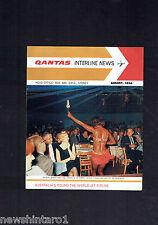 #HH1. QANTAS INTERLINE NEWS BROCHURE - AUGUST 1966